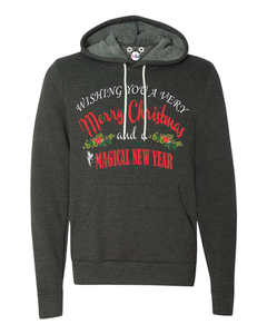 Wishing You A Very Merry Christmas And A Magical New Year Ladies Hoodie