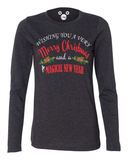 Wishing You A Very Merry Christmas And A Magical New Year Ladies Long Sleeve T-Shirt