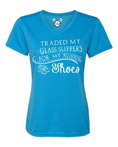 Ladies And She Ran Happily Ever After... Running Shirt - Behind The Mouse - 1