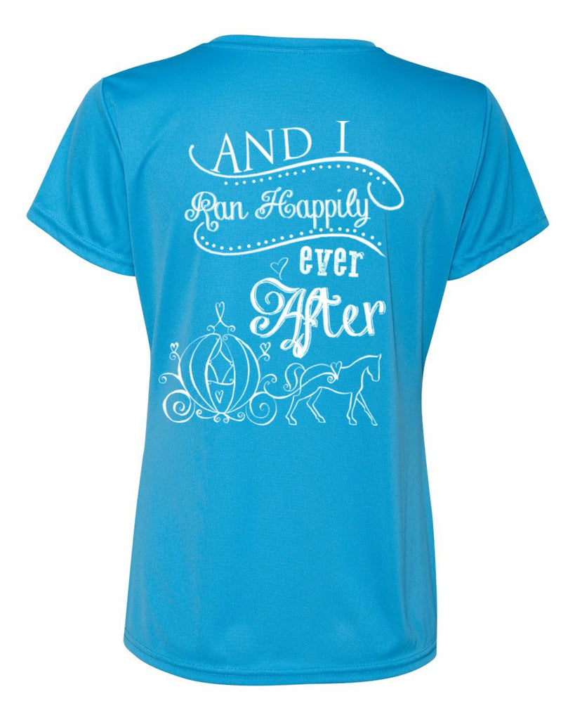 And She Ran Happily Ever After Ladies Running Shirt