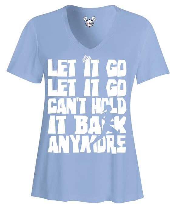 runDisney Elsa Frozen Let It Go Women's V-Neck Performance Running Shirt - Behind The Mouse - 1