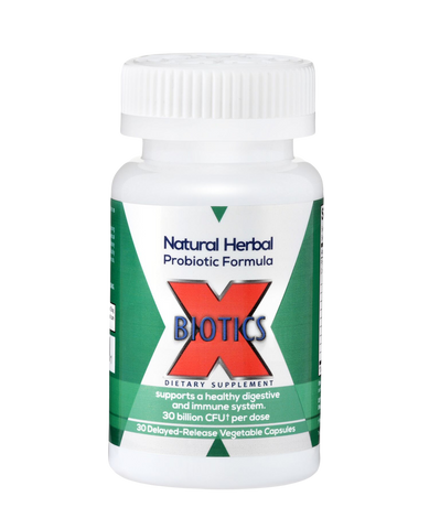 X-BIOTICS® Natural Probiotic Formula. 30 billion CFU per dose.