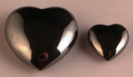 Hematite Crystal Heart - Large