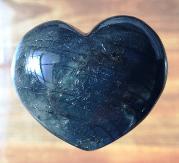 Labradorite Crystal Heart - Large