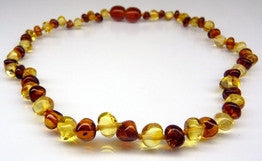 Amber Teething Necklace - Polished Bi-Color **SALE PRICE**