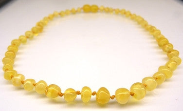 Amber Teething Necklace - Polished Butterscotch *SALE PRICE*