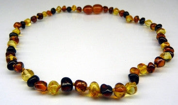 Amber Teething Necklace - Polished Multi-Color *SALE PRICE*