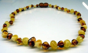 Amber Teething Necklace - Polished White Cognac *SALE PRICE*