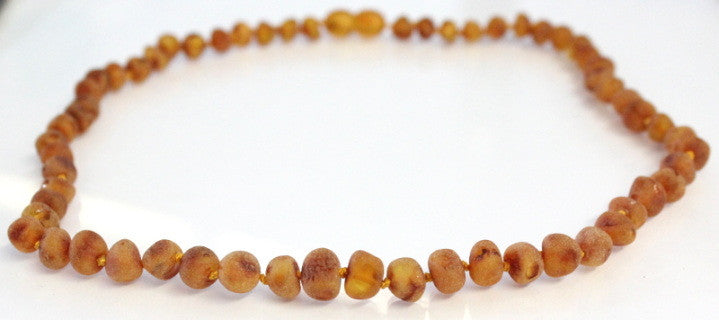 Amber Adult Necklace - (Raw) Cognac **ON SALE**