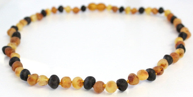 Amber Adult Necklace - (Raw) Multi-Color **ON SALE**