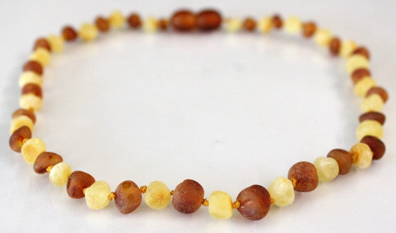 Amber Teething Necklace - RAW White-Cognac *SALE PRICE*