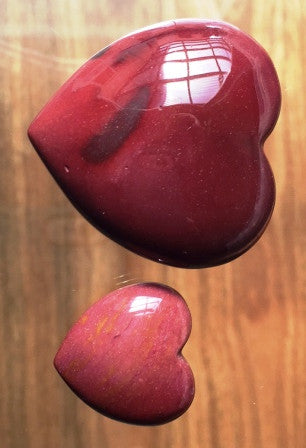 Red Mookaite Heart - Small