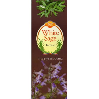 Sandesh White Sage Incense - 20 Sticks