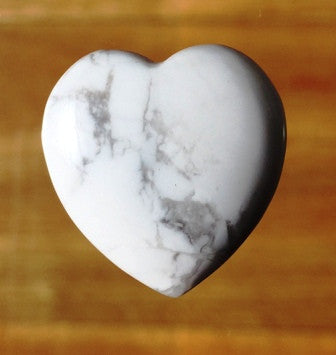 White Howlite Crystal Heart - Small