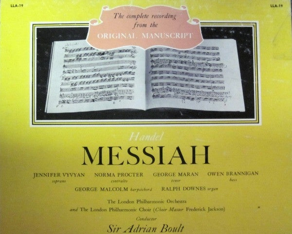 The Complete recording from the Original Manuscript 'Messiah' A-4403