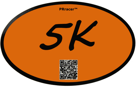 5K Orange Decal