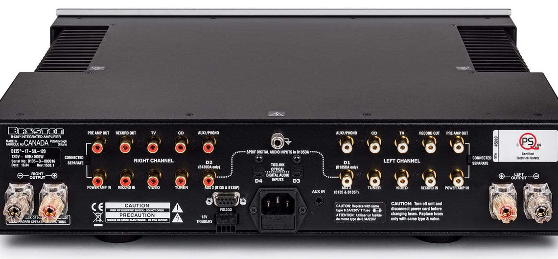 Bryston integrated amp with pre-outs