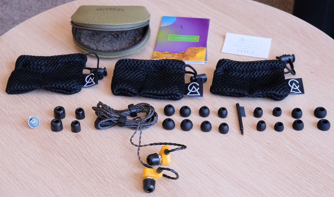 Campfire Audio Honeydew In Ear Monitors with accessories