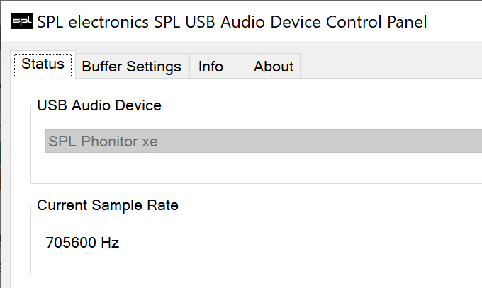 SPL Phonitor xe driver control panel