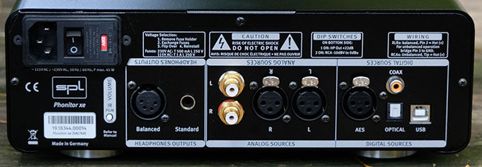 SPL Phonitor xe rear panel