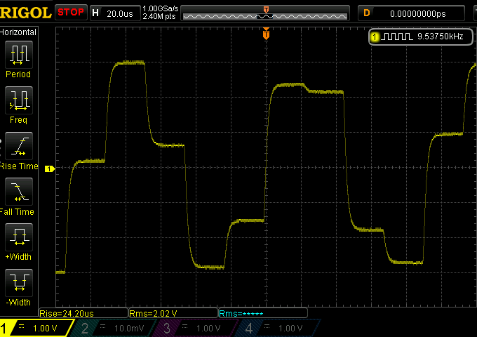 10kHz unfiltered sine wave from DAC