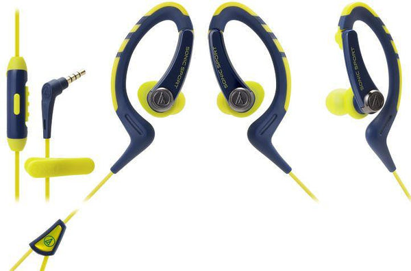 Audio Technica ATH-Sport 1iS Blue/Yellow In Ear Headphones