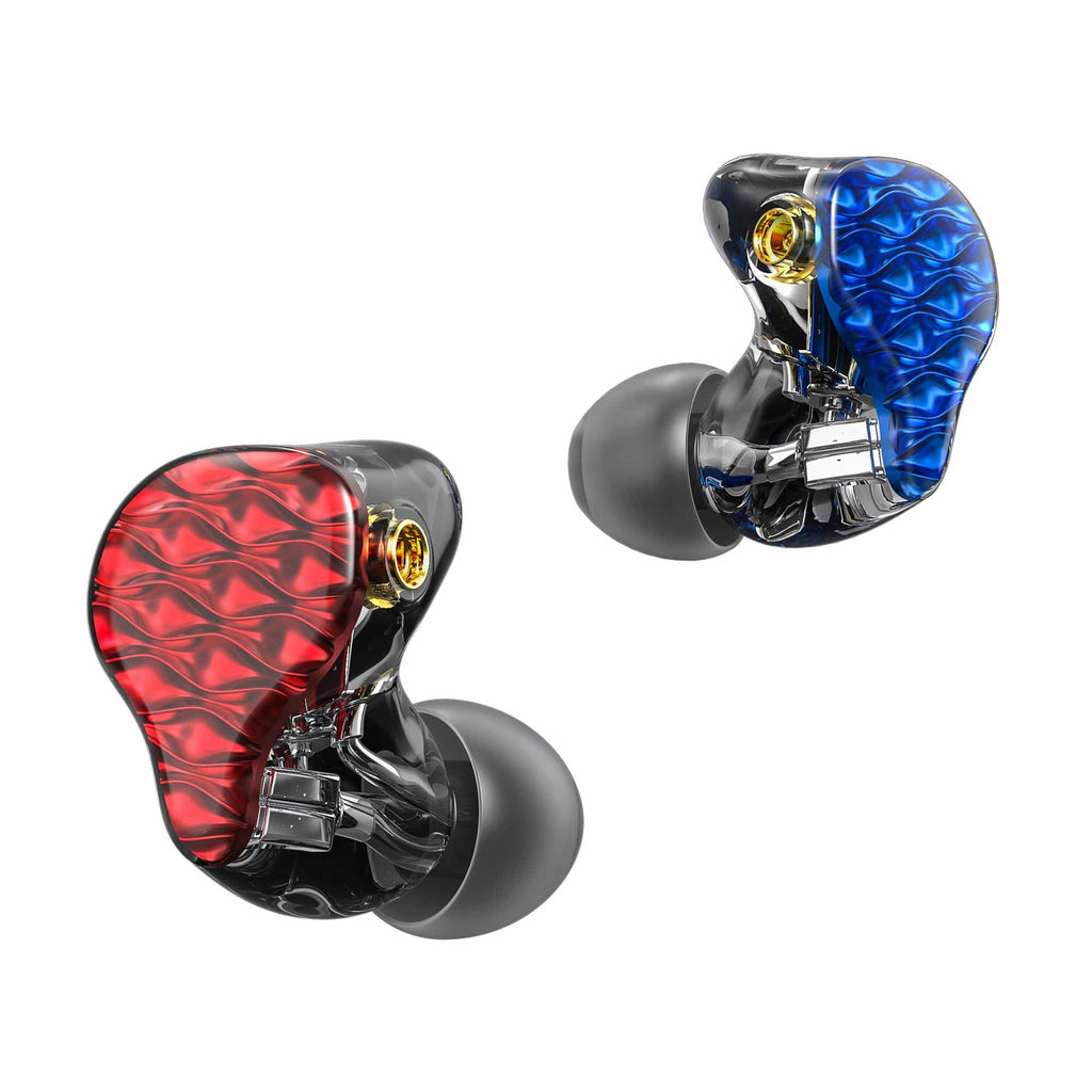 FiiO FA7 Quad Driver Balanced Armature In-Ear Monitors Blue Red