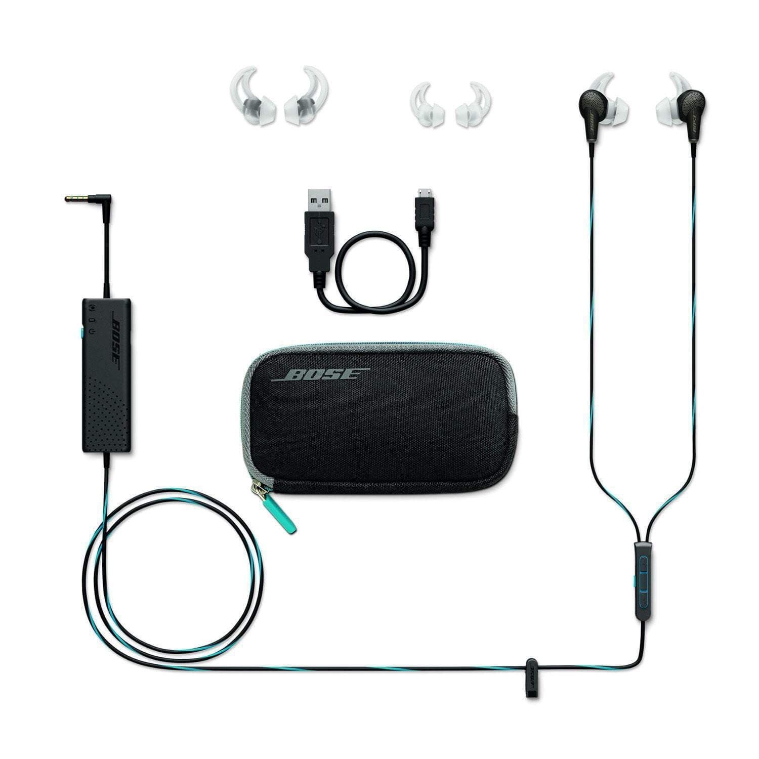 bose qc20a noise cancelling in ear headphones addicted to audio. Black Bedroom Furniture Sets. Home Design Ideas