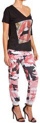 Pink Digital Camouflage Joggers
