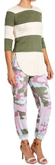 Pink & Olive Camouflage Joggers