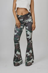 Digital Printed Camouflage Bell Bottom Legging