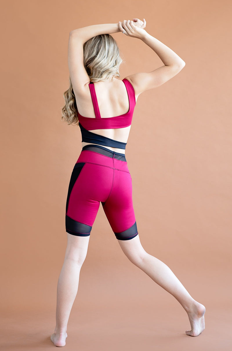 Nova Bike Short- Garnet/ Black