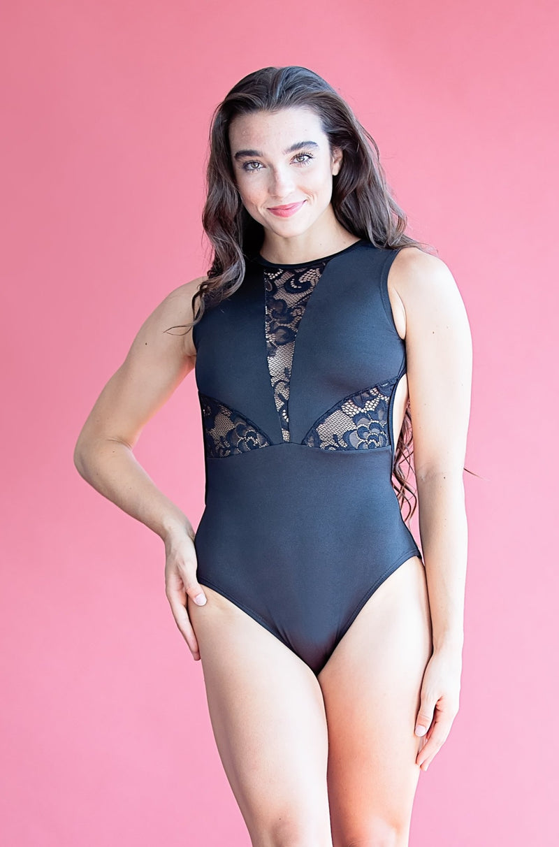 Victoria Leotard-  Black Lace