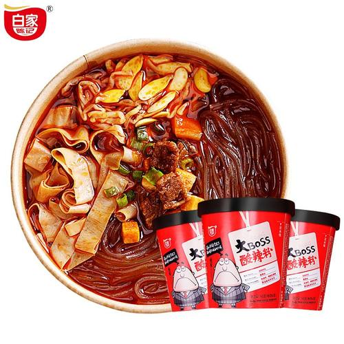 BaiJia Big Boss Szechuanese Hot and Sour Instant Vermicelli Rice Cup Noodles 5.11 Oz (145 g) - 白家陈记啊可大BOSS酸辣米粉