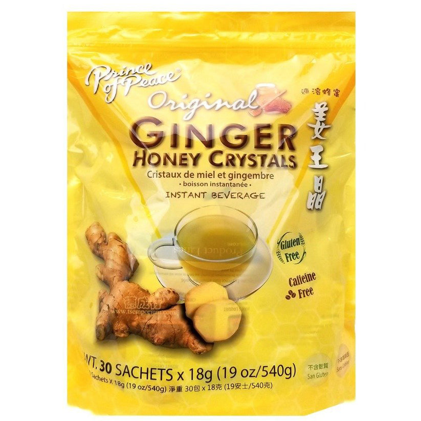 Prince of Peace Instant Ginger Honey Crystals Tea 30 Sachets X 18 g (19 Oz/540 g)