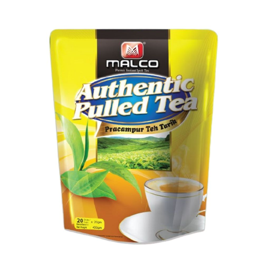 Malco Authentic Pulled Tea Tarik | Instant Black Tea | Pracampur Teh Tarik 20 sticks (400 g40m) - 马可马来茶