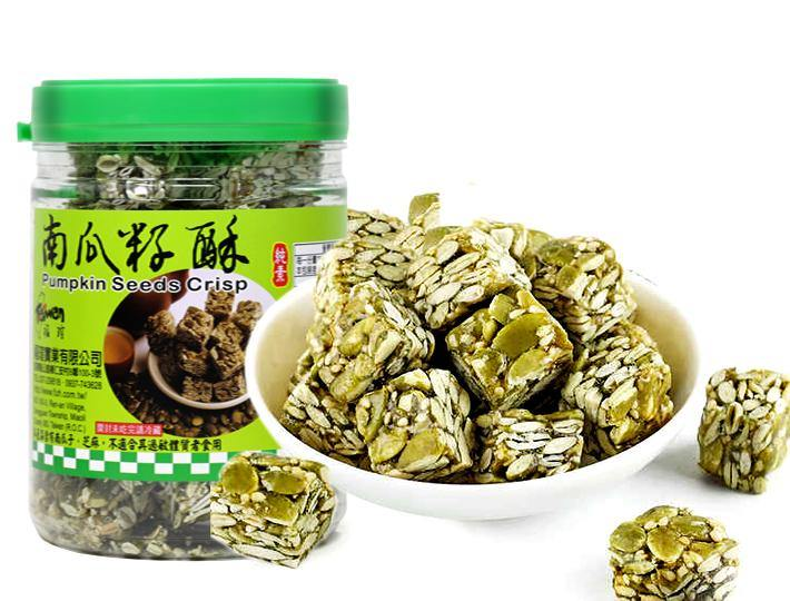 Taiwan Pumpkin Seeds Crisp Bar Snack (300 g) - 福瑄南瓜杍酥 (300 g)