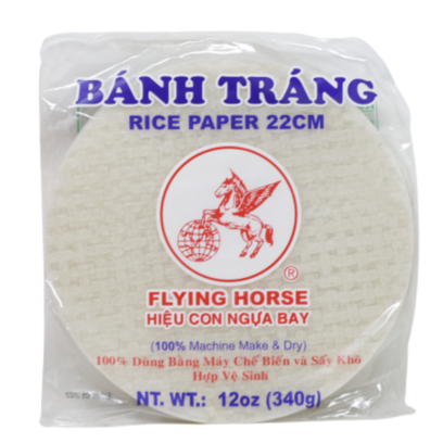 Flying Horse Rice Paper Spring Roll Wrapper - Banh Trang 22 cm 12 Oz (340 g)