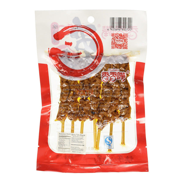 Joytofu Ready to eat Tofu Skewers Snack Beef Flavor (60 g) - 香香嘴串烧牛汁味