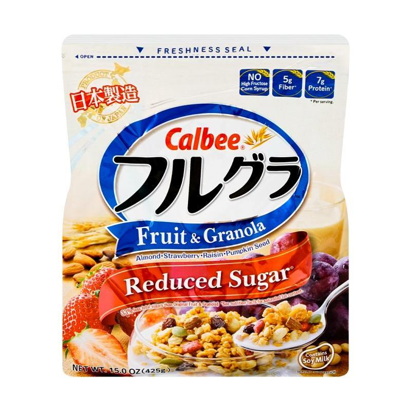 Calbee Reduced Sugar Fruit and Granola Cereal 15 Oz (425 g)