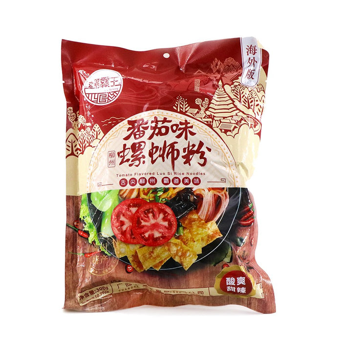 LUOBAWANG Luo Si Rice Noodles Tomato Flavored 10.79 Oz (306 g)