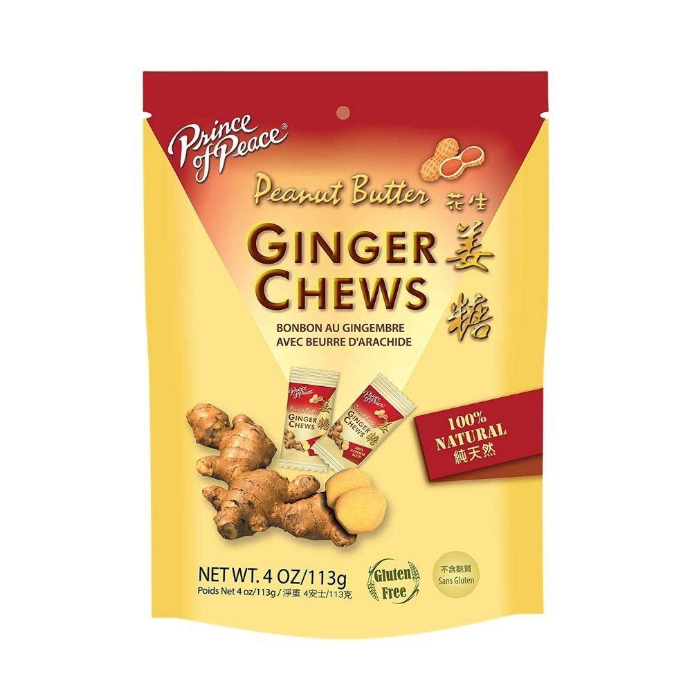 Prince of Peace Ginger Candy (Chews) with Peanut Butter 4 Oz (113 g)