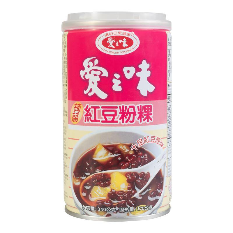 AGV Ready to Eat Red Bean with Jelly in Syrup Sweet Snack 12 Oz (340 g) - 爱之味红豆粉粿