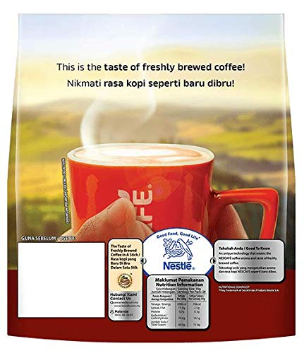 Nescafé 3-in-1 Premix Instant Coffee Blend & Brew Original - Imported from Nestle Malaysia 19 g (28 Sticks)