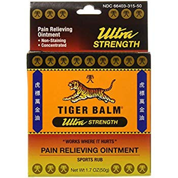 Tiger Balm Sports Rub Pain Relieving Ointment Ultra Strength 1.70 Oz (50 g)