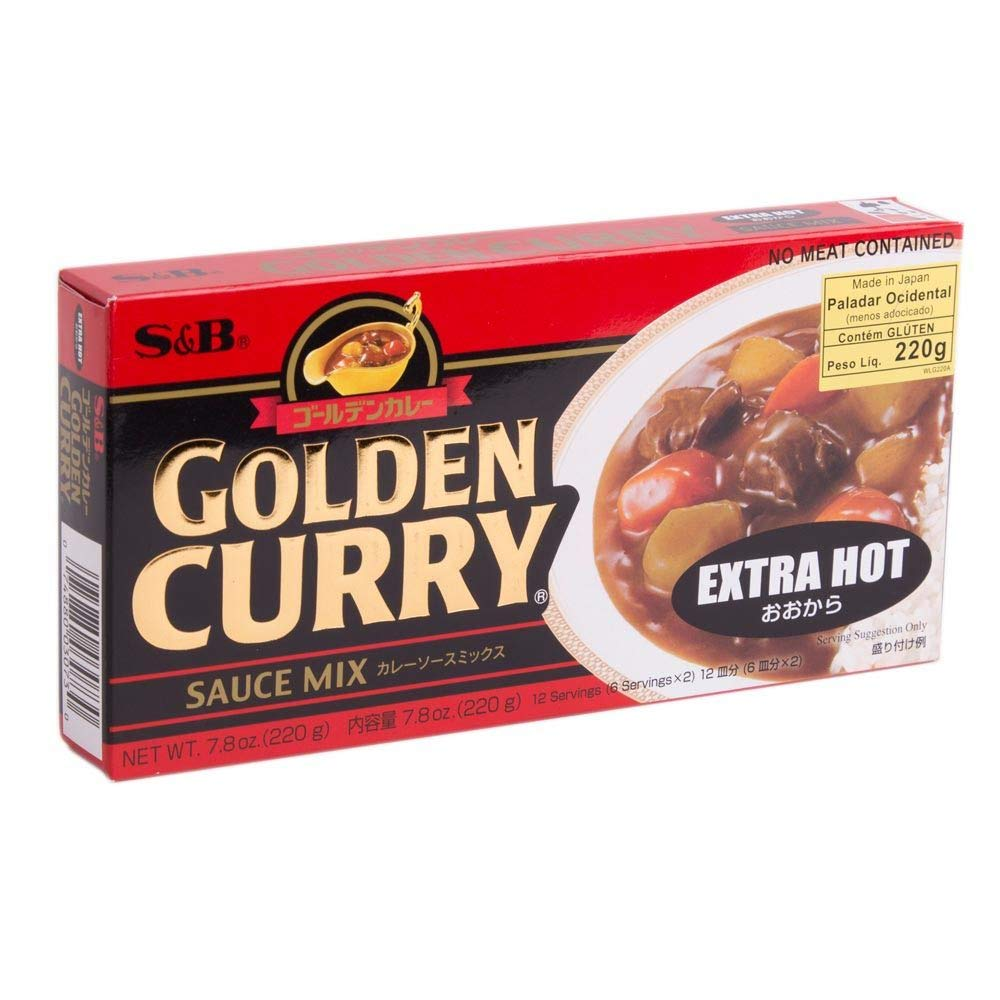 S&B Golden Curry Sauce Mix Extra Hot 7.8 Oz (220 g)