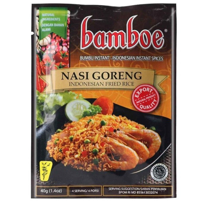 Bamboe Nasi Goreng Indonesian Instant Spices for Fried Rice 1.4 Oz (40 g)