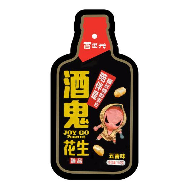 BAISHIXING Five Spices Flavored Peanuts Snack 140g -百世兴酒鬼花生五香味