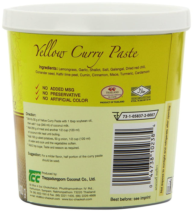 Mae Ploy Yellow Curry Paste 14 Oz (400 g)
