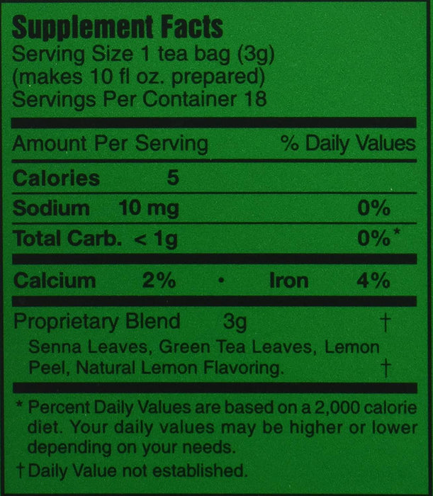 3 BALLERINA Herbal Tea Dieters Drink Extra Strength Lemon Flavor 18 Tea Bags 1.88 Oz (53.88 g)